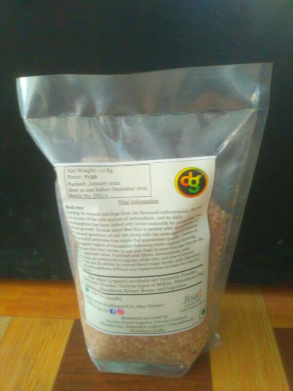 back packet of himalayan red rice